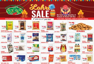 Asian Food Centre Flyer January 8 to 17