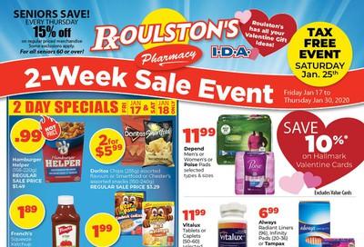 Roulston's Pharmacy Flyer January 17 to 30