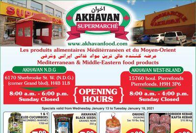 Akhavan Supermarche Flyer January 13 to 19