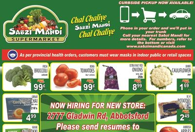 Sabzi Mandi Supermarket Flyer January 15 to 20