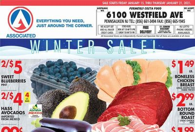 Associated Supermarkets Weekly Ad Flyer January 15 to January 21