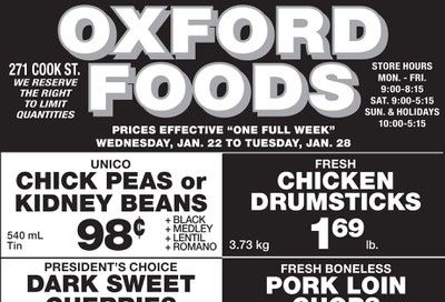 Oxford Foods Flyer January 22 to 28