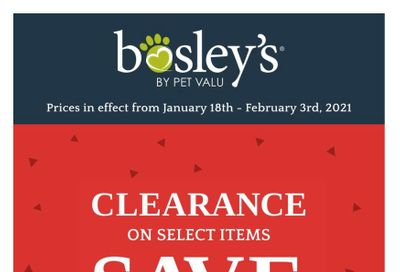 Bosley's by PetValu Flyer January 18 to February 3