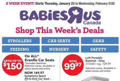 Babies R Us Flyer January 23 to February 5