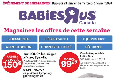 Babies R Us (QC) Flyer January 23 to February 5
