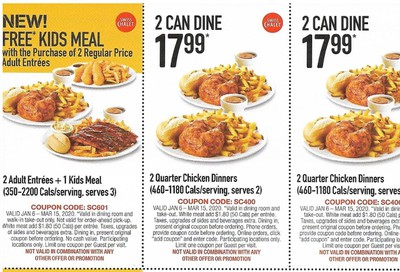 Swiss Chalet Canada New Coupons: Valid until March 15