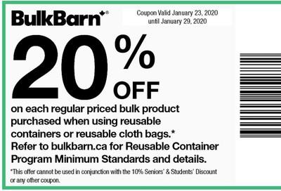 Bulk Barn Canada Coupon January 23 - 29