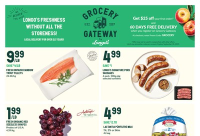 Longo's Grocery Gateway Flyer September 4 to 10
