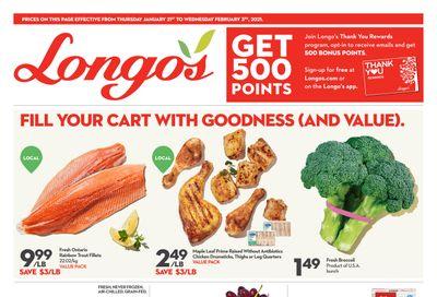 Longo's Flyer January 21 to February 3