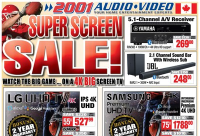 2001 Audio Video Flyer January 24 to 30