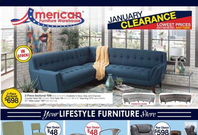 American Furniture Warehouse Weekly Ad Flyer January 17 to January 23