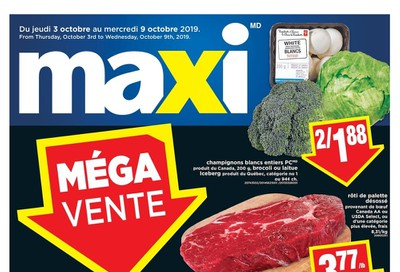 Maxi Flyer October 3 to 9