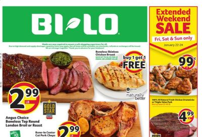 BI-LO Weekly Ad Flyer January 20 to January 26