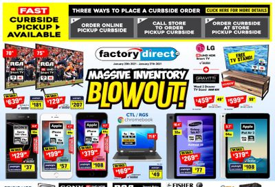 Factory Direct Flyer January 20 to 27