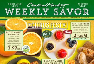 Central Market Weekly Ad Flyer January 20 to January 26, 2021