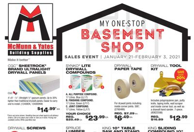 McMunn & Yates Building Supplies Flyer January 21 to February 3