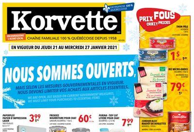 Korvette Flyer January 21 to 27