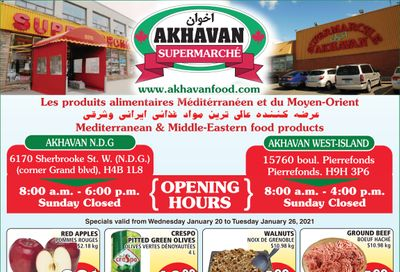 Akhavan Supermarche Flyer January 20 to 26