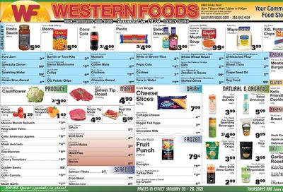 Western Foods Flyer January 20 to 26