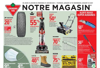 Canadian Tire (QC) Flyer January 21 to 27