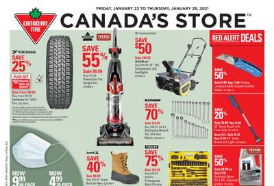 Canadian Tire (West) Flyer January 22 to 28