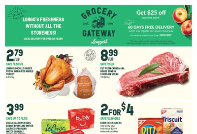 Longo's Grocery Gateway Flyer October 2 to 8