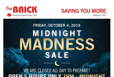 The Brick Midnight Madness Sale Flyer October 4