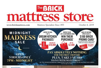 The Brick Mattress Store Flyer October 1 to 10