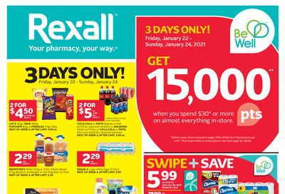 Rexall (West) Flyer January 22 to 28