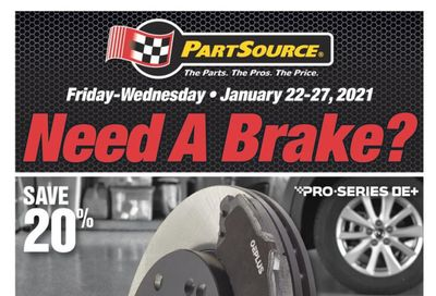PartSource Flyer January 22 to 27