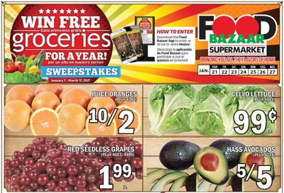 Food Bazaar Supermarket Weekly Ad Flyer January 21 to January 27, 2021