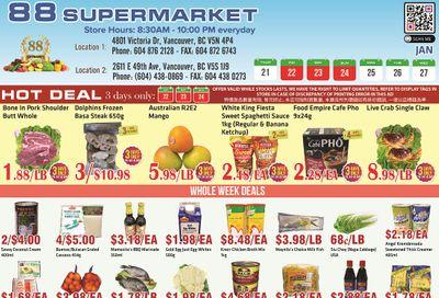 88 Supermarket Flyer January 21 to 27