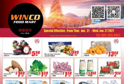 WinCo Food Mart (HWY 7) Flyer January 21 to 27