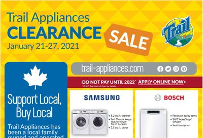 Trail Appliances (AB & SK) Flyer January 21 to 27