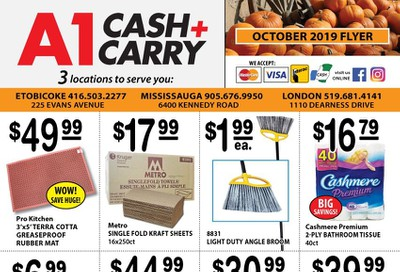 A-1 Cash and Carry Flyer October 1 to 31