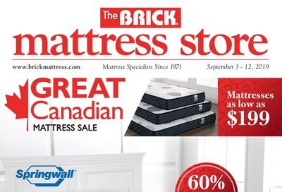 The Brick Mattress Store Flyer September 3 to 12
