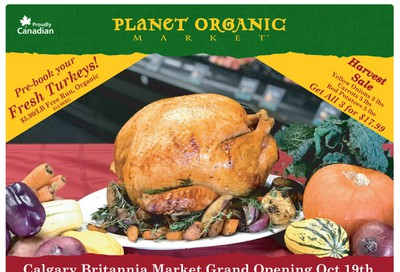 Planet Organic Market (West) Flyer October 2 to 28