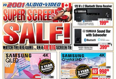 2001 Audio Video Flyer January 22 to 28
