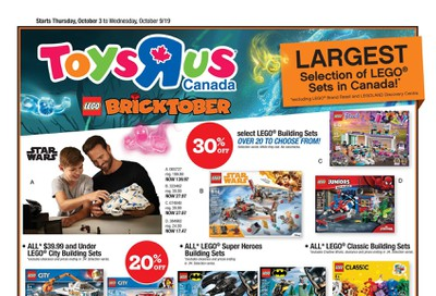 Toys R Us Flyer October 3 to 9
