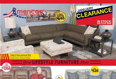 American Furniture Warehouse Weekly Ad Flyer January 21 to January 30