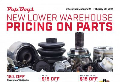 Pep Boys Weekly Ad Flyer January 24 to February 20