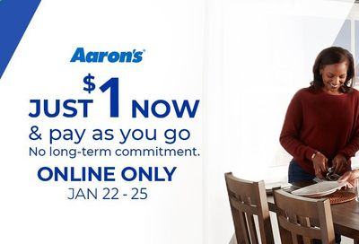 Aaron's Weekly Ad Flyer January 22 to January 25