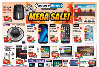 Factory Direct Flyer October 2 to 9