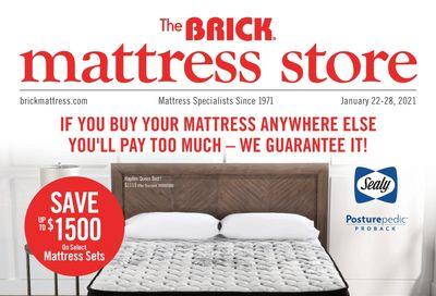 The Brick Mattress Store Flyer January 22 to 28