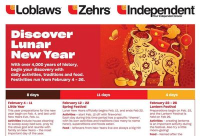 Loblaws (ON) Chinese New Year Flyer January 28 to February 17