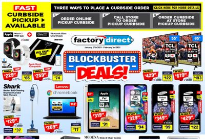 Factory Direct Flyer January 27 to February 3