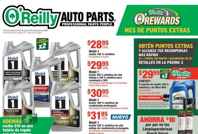 O'Reilly Auto Parts Weekly Ad Flyer January 27 to February 23