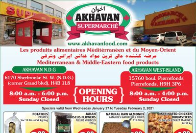 Akhavan Supermarche Flyer January 27 to February 2