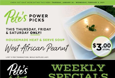 Pete's Fine Foods Flyer January 28 to February 3