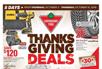 Canadian Tire (ON) Flyer October 3 to 10